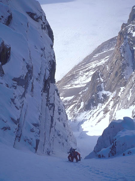 Partially rehydrated freeze-dried food and one-piece ski suits lead to couloir names like Intestinal Fortitude.