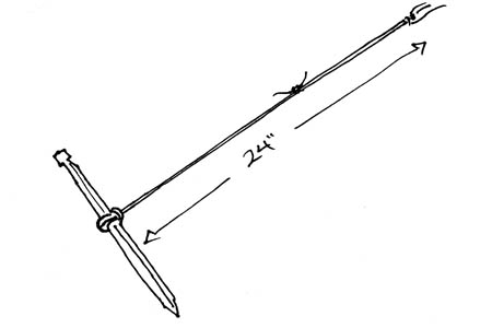 The assembled tent anchor.