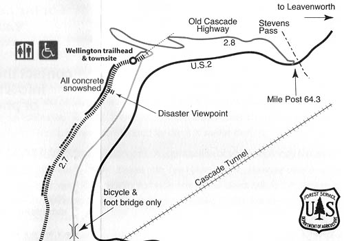 Map to the Wellington disaster site.