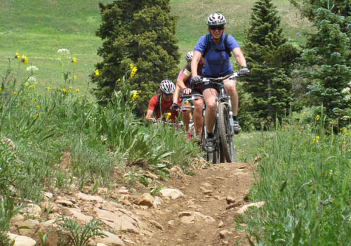 There's no shortage of rocks on the Deadman's & Doctor's Park trails.