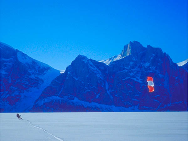 Sunday Photo – Midnight Kiting in Sam Ford Fjord