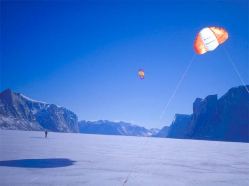 Using kites for Big Game chute hunting in Baffin Island.