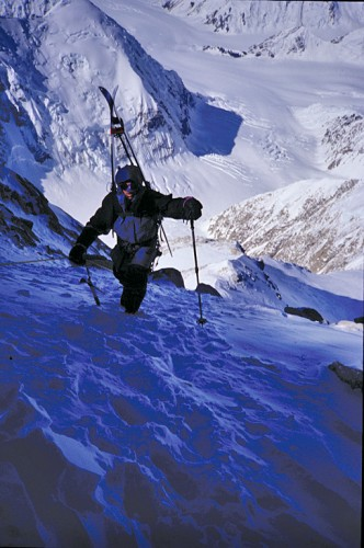 Mark Holbrook going from 14,300' to the 20,320' summit of Denali in eight hours with only a day pack.