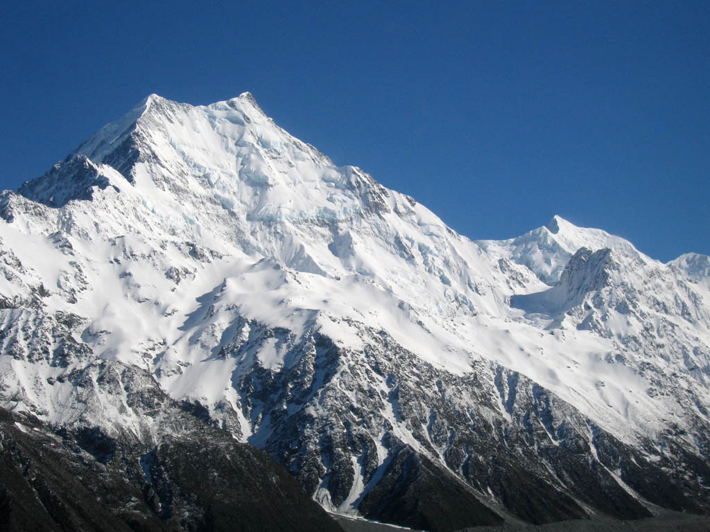 The stunning Caroline Face on Aoraki (Mt. Cook), New Zealand