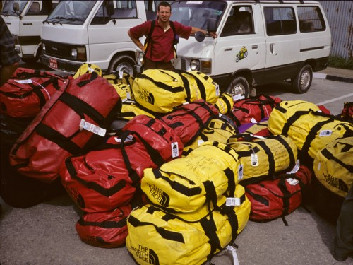 Many tons of the lightest climbing gear on earth.  I don't know why we decided to bring all this, but it made sense at the time.  Mark Holbrook, Katmandu